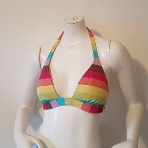 Multicolored striped VS bikini top